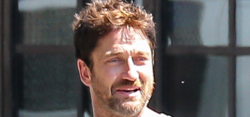 Gerard Butler takes his dates to Disneyland, then Butlers them in hotels