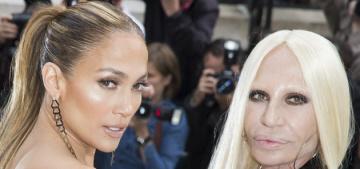Jennifer Lopez in a half-dress, half-trouser Versace: bizarre or fabulous?