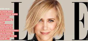 Kristen Wiig covers Elle, wants to be a legitimate dramatic actress now