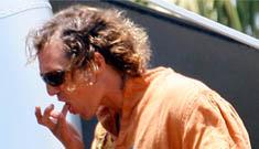 Matthew McConaughey grills, licks fingers, drinks a beer