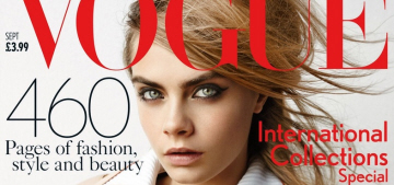 Cara Delevingne makes history as Vogue UK's September cover girl: blah or fab?