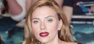 """Scarlett Johansson cut her hair short & her fiance looks ridiculous"" links"