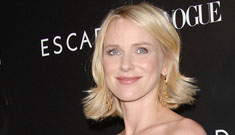 Pregnant Naomi Watts is glowing, due in late June