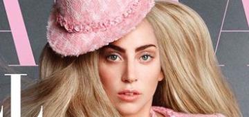 Lady Gaga & her French bulldog Asia cover Harper's Bazaar: cute or tired?