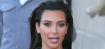 Kim Kardashian in a Ulyana Sergeenko bustier in LA: tragic or stunning?