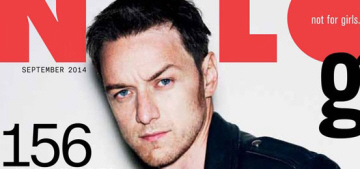 James McAvoy covers Nylon Guys: gorgeous or not scruffy enough?