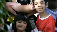 Slumdog Millionaire child stars go to Disneyland