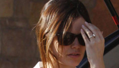 Rachel Bilson spotted out with engagement ring