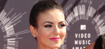 Victoria Justice in a plastic ruffled mullet skirt at the VMAs: fashion-forward or fug?