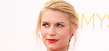 Claire Danes wore a red version of Kim Kardashian's wedding gown to the Emmys
