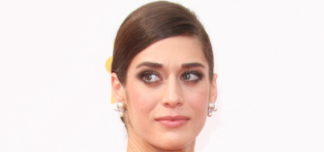 Lizzy Caplan in black & white Donna Karan at the Emmys: dramatic or snooze-fest?