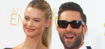 Adam Levine escorted Prada-clad Behati Prinsloo to the Emmys: gross or cute?