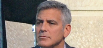 Amal Alamuddin visited George Clooney on the set of his Nespresso commercial