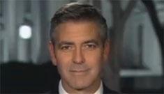 George Clooney talks Darfur, jokes Jennifer Aniston to Larry King