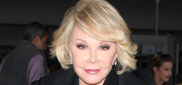 Joan Rivers is in a medically induced coma, Melissa asks for prayers