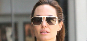 Angelina Jolie's married lady style is still all-black: first photos of Jolie in Malta
