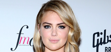 Kate Upton surfaces in Emilio Pucci for the FMAs: basic or beautiful?