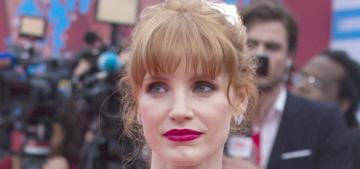 Jessica Chastain in fuchsia Oscar de la Renta in Deauville: stunning or tacky?