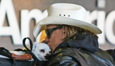 Mickey Rourke's chihuahua, Jaws, is the cutest