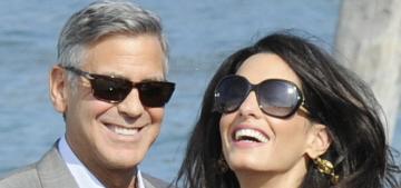 George Clooney & Amal Alamuddin arrive in Venice ahead of their wedding