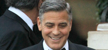 George Clooney looked happy, relaxed ahead of his wedding: no jitters?