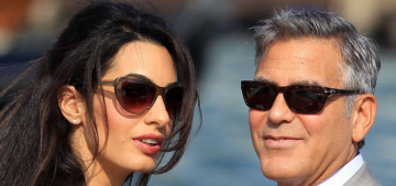 George Clooney & Amal Alamuddin's first married-couple photos: lovely?