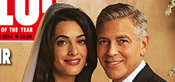 Amal Alamuddin & George Clooney's wedding photos cover People, Hello Mags