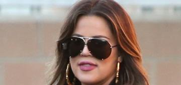 Khloe Kardashian's Pinocchio Butt looks even bigger these days: implants?