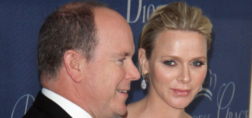 Princess Charlene in Dior Haute Couture in Beverly Hills: lovely or boring?