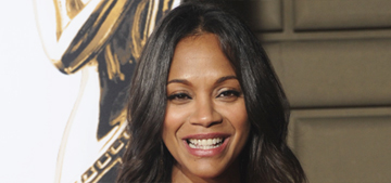 Zoe Saldana dresses her bump in red silk for the ALMAs: lovely or frumpy?