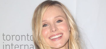 Kristen Bell's 18 mo daughter uses sign language 'she's really good at it'