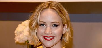 Jennifer Lawrence in Oscar de la Renta at the Elle event: gorgeous or garish?