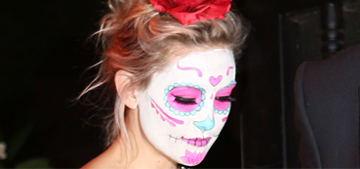 Kate Hudson wore sugar skull makeup for a Halloween party: beautiful?