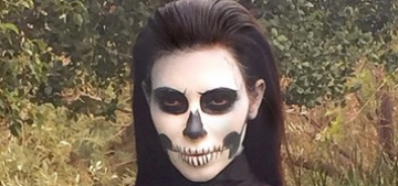Kim Kardashian dressed up like a skeleton & Anna Wintour for Halloween