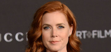Amy Adams in very low cut Gucci at the LACMA gala: cheap or lovely?
