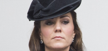 Duchess Kate wears black McQueen for Remembrance Sunday: lovely?