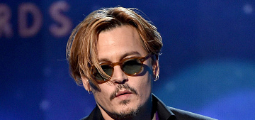 Johnny Depp was completely drunk onstage at the HFAs: cute or sad?