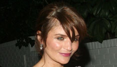 Helena Christensen says she has never lived with a man