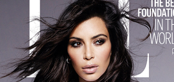 How Photoshopped are Kim Kardashian's Elle UK covers?  Very.