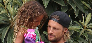 Gabriel Aubry mildly fights back against claims he straightened daughter's hair