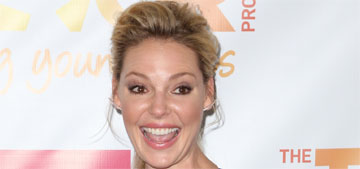 Katherine Heigl does the Jolie leg at Trevor Live: cute or put it away?