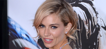 Sienna Miller in see-thru Balenciaga for 'American Sniper': lovely or tacky?