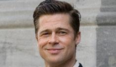 Brad Pitt filming scenes for his movie in Canada