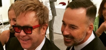 Elton John & David Furnish married in a low-key wedding ceremony in England