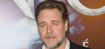 Russell Crowe thinks it's a myth that there are no good parts for older actresses