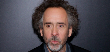 Has Tim Burton been living with a production assistant for nearly a year?