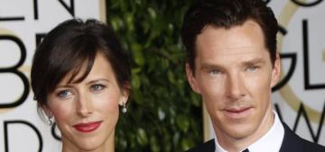 Benedict Cumberbatch & Erdem-clad Sophie Hunter at the Globes: cute?