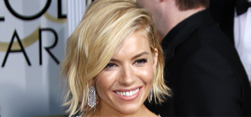 Sienna Miller in Miu Miu at the Globes: too revealing or not bad?