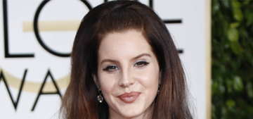 Lana Del Rey in vintage Travilla at the Globes: try hard or retro cool?