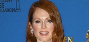 Julianne Moore in custom Givenchy at the Globes: much better than usual?